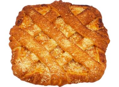 Пирог с творогом и курагой